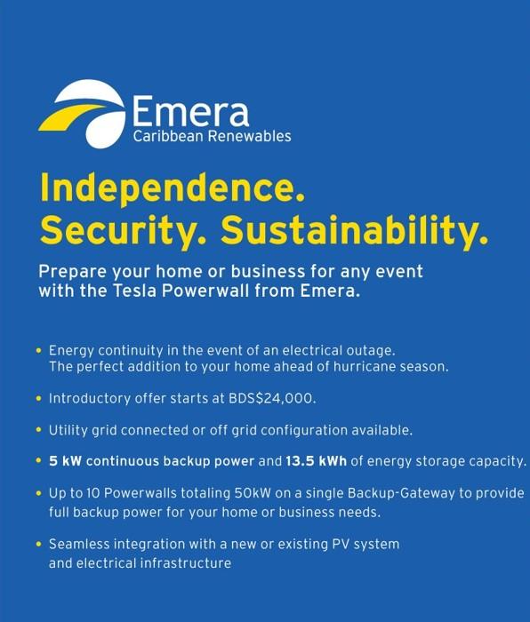 Tesla Powerwalls from Emera